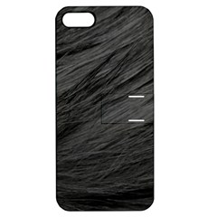Long Haired Black Cat Fur Apple Iphone 5 Hardshell Case With Stand by trendistuff