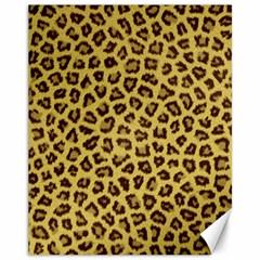 Leopard Fur Canvas 11  X 14   by trendistuff