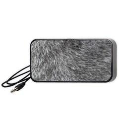 Grey Wolf Fur Portable Speaker (black)  by trendistuff