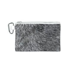 Grey Wolf Fur Canvas Cosmetic Bag (s) by trendistuff