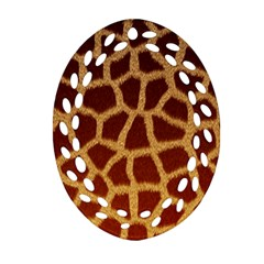 Giraffe Hide Ornament (oval Filigree)  by trendistuff