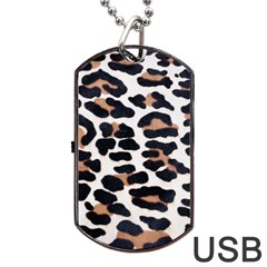 Black And Brown Leopard Dog Tag Usb Flash (two Sides)  by trendistuff