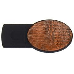 Alligator Skin Usb Flash Drive Oval (4 Gb)  by trendistuff