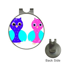 Owl couple  Hat Clips with Golf Markers by JDDesigns