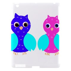 Owl Couple  Apple Ipad 3/4 Hardshell Case (compatible With Smart Cover) by JDDesigns