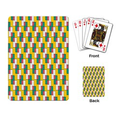 Connected Rectangles Pattern Playing Cards Single Design by LalyLauraFLM