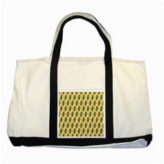Connected Rectangles Pattern Two Tone Tote Bag by LalyLauraFLM
