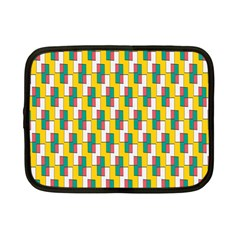 Connected Rectangles Pattern Netbook Case (small) by LalyLauraFLM