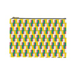 Connected Rectangles Pattern Cosmetic Bag (large) by LalyLauraFLM