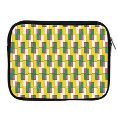 Connected Rectangles Pattern Apple Ipad 2/3/4 Zipper Case by LalyLauraFLM