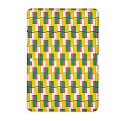 Connected Rectangles Pattern Samsung Galaxy Tab 2 (10 1 ) P5100 Hardshell Case  by LalyLauraFLM