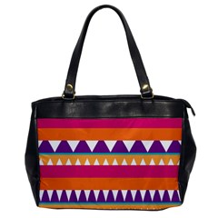 Stripes And Peaks Oversize Office Handbag by LalyLauraFLM