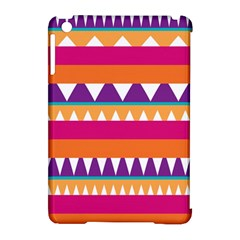 Stripes And Peaks Apple Ipad Mini Hardshell Case (compatible With Smart Cover) by LalyLauraFLM