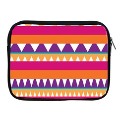 Stripes and peaks Apple iPad 2/3/4 Zipper Case by LalyLauraFLM