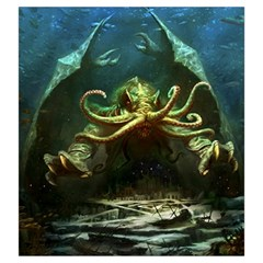 Lovecraft V2 By Thomas Covert   Drawstring Pouch (large)   Np1n98x563jq   Www Artscow Com Front