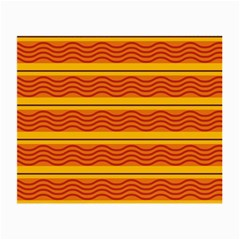 Red Waves Small Glasses Cloth (2 Sides) by LalyLauraFLM