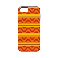 Red Waves Apple Iphone 5 Classic Hardshell Case (pc+silicone) by LalyLauraFLM