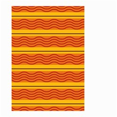 Red Waves Small Garden Flag by LalyLauraFLM