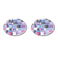 Patches Cufflinks (oval) by LalyLauraFLM
