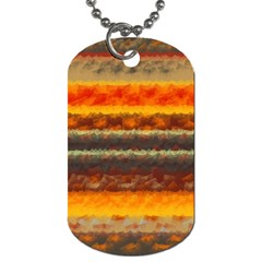 Fading Shapes Texture Dog Tag (two Sides) by LalyLauraFLM