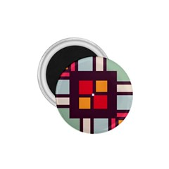 Squares And Stripes  1 75  Magnet by LalyLauraFLM