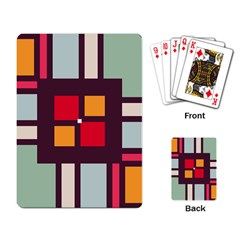 Squares And Stripes  Playing Cards Single Design by LalyLauraFLM