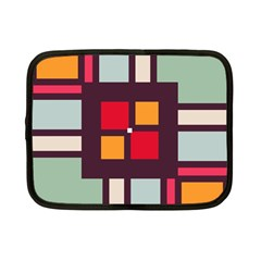 Squares And Stripes  Netbook Case (small) by LalyLauraFLM