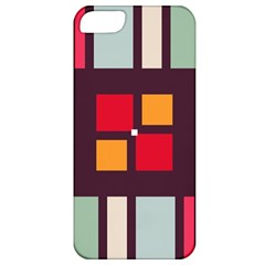 Squares And Stripes  Apple Iphone 5 Classic Hardshell Case by LalyLauraFLM