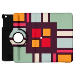 Squares And Stripes  Apple Ipad Mini Flip 360 Case by LalyLauraFLM