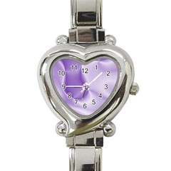 Colors In Motion, Lilac Heart Italian Charm Watch by MoreColorsinLife