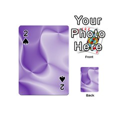 Colors In Motion, Lilac Playing Cards 54 (Mini)  by MoreColorsinLife
