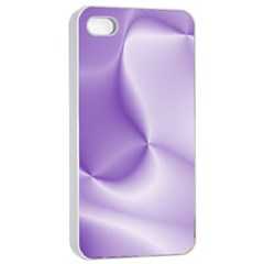 Colors In Motion, Lilac Apple Iphone 4/4s Seamless Case (white) by MoreColorsinLife