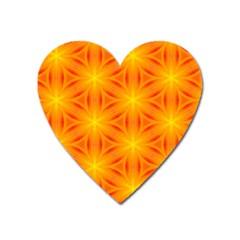 Cute Pretty Elegant Pattern Heart Magnet by creativemom