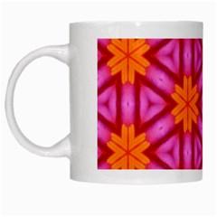 Cute Pretty Elegant Pattern White Mugs by creativemom
