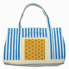 Cute Pretty Elegant Pattern Striped Blue Tote Bag  by creativemom