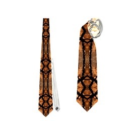 Faux Animal Print Pattern Neckties (two Side)  by creativemom