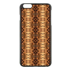 Faux Animal Print Pattern Apple Iphone 6 Plus/6s Plus Black Enamel Case by creativemom