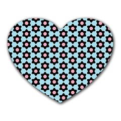 Cute Pretty Elegant Pattern Heart Mousepads by creativemom