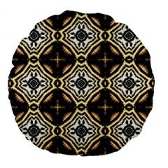 Faux Animal Print Pattern Large 18  Premium Flano Round Cushions by creativemom