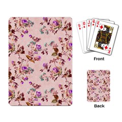 Antique Floral Pattern Playing Cards Single Design by LovelyDesigns4U