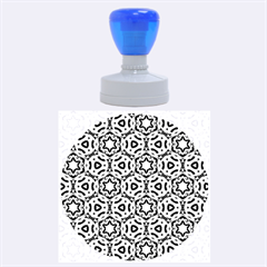 Faux Animal Print Pattern Rubber Round Stamps (Large) by creativemom