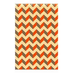 Modern Retro Chevron Patchwork Pattern  Shower Curtain 48  X 72  (small)  by creativemom
