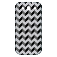 Modern Retro Chevron Patchwork Pattern  Samsung Galaxy S3 S Iii Classic Hardshell Back Case by creativemom