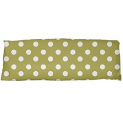 Lime Green Polka Dots Body Pillow Cases Dakimakura (two Sides)  by creativemom