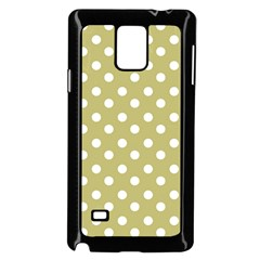 Lime Green Polka Dots Samsung Galaxy Note 4 Case (black) by creativemom