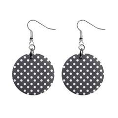 Gray Polka Dots Mini Button Earrings by creativemom