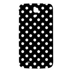 Black And White Polka Dots Samsung Galaxy Mega I9200 Hardshell Back Case by creativemom