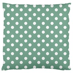 Mint Green Polka Dots Large Cushion Cases (one Side)  by creativemom