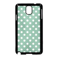 Mint Green Polka Dots Samsung Galaxy Note 3 Neo Hardshell Case (Black) by creativemom