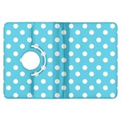 Sky Blue Polka Dots Kindle Fire HDX Flip 360 Case by creativemom